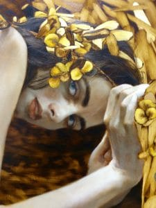 """Brad Kunkle, """"If You Only Knew"""", Oil & Gold Leaf on Linen Panel"""