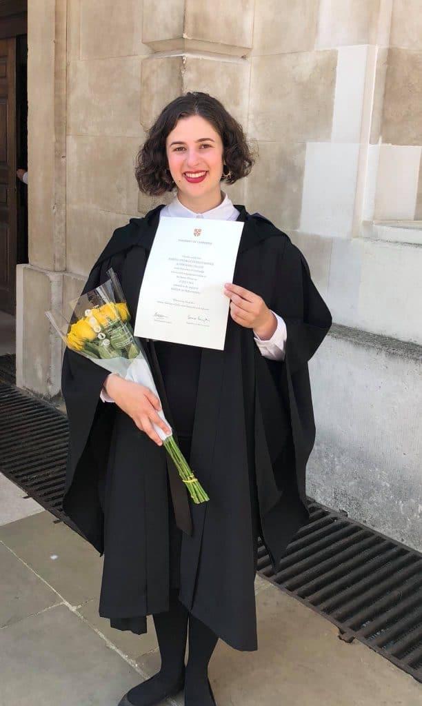 Isabella Rosner graduates from Cambridge