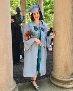 Isabella Rosner graduates from Columbia University