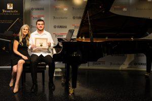 Cameron C. with piano teacher Linda Wehrli