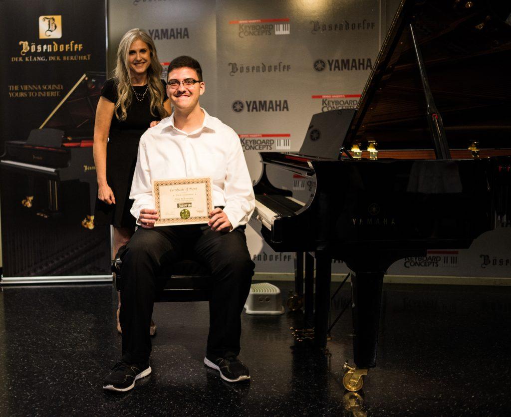 David G. with piano teacher Linda Wehrli