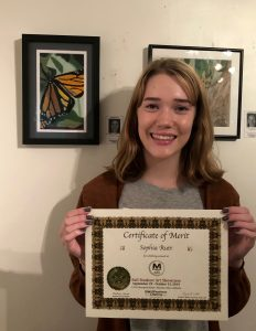 Pastimes for a Lifetime art students awarded Certificates of Merit at the 2019 Fall Student Art Showcase