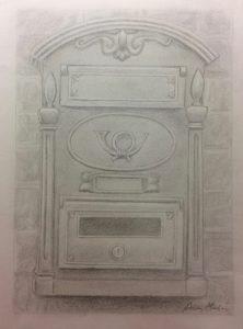 Adela M.'s Graphite Mailbox Study