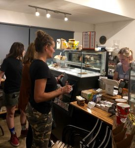 Pastimes for a Lifetime students and guests enjoy refreshments at the 2019 Fall Student Art Showcase at the M Street Coffee