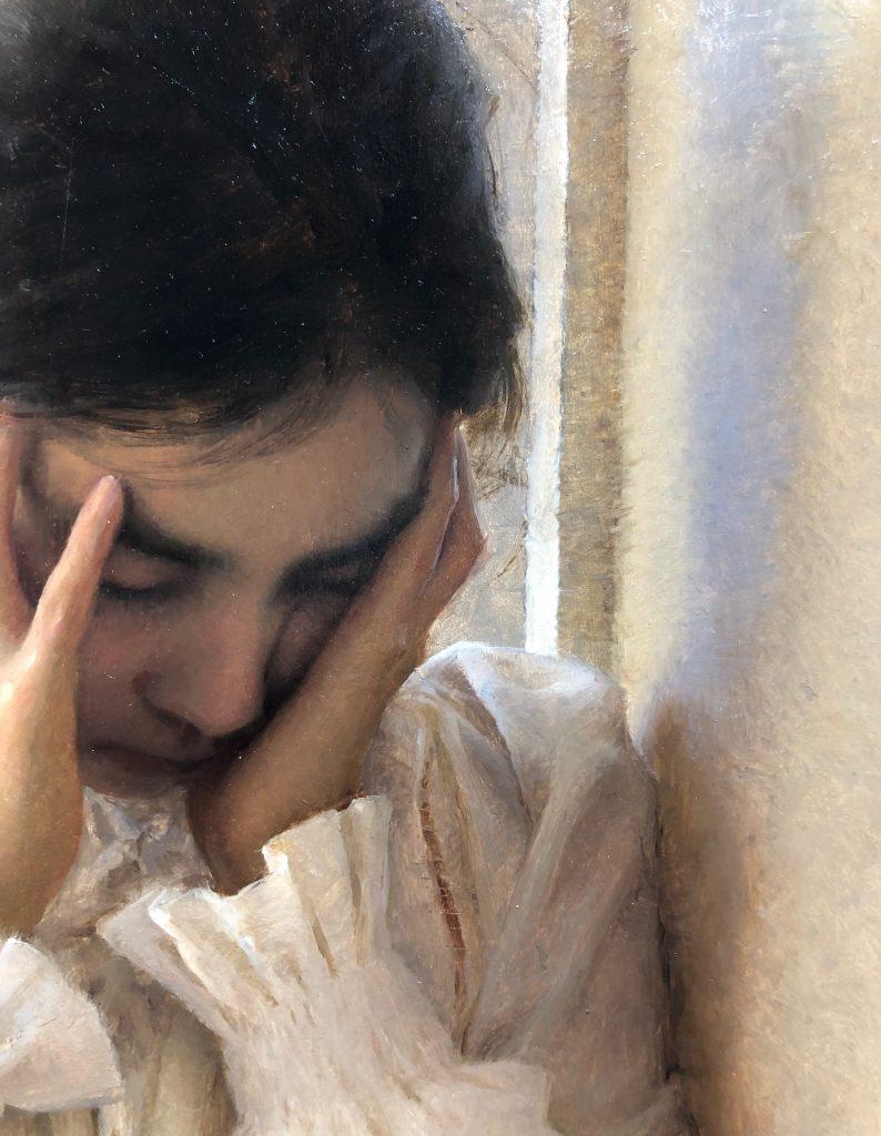 Heartache. Oil on Panel by Alex J. Venezia