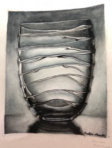 Maleia G., Glass Vase, Watercolor on Strathmore Cold Press Paper