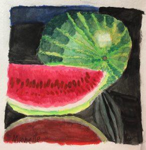 Michelle B.'s Watercolor Watermelon Study