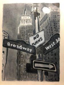 Rosasleen O.'s Acrylic Street Sign Study