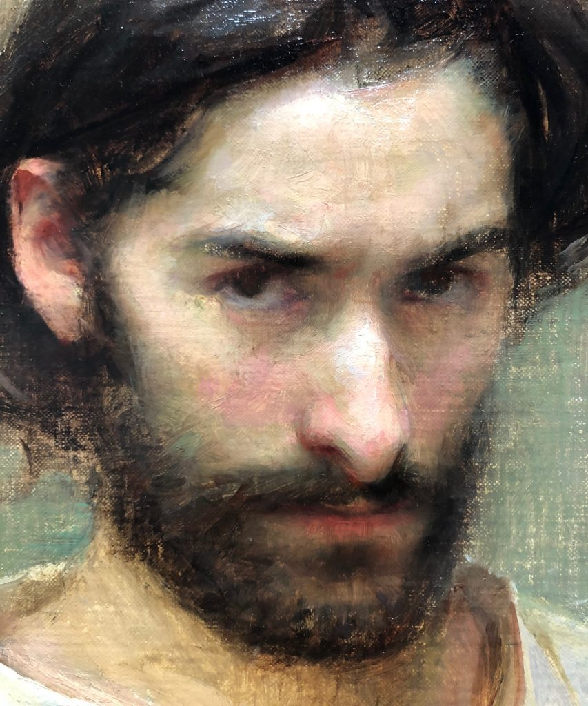 Self Portrait, Oil on Panel by Alex J. Venezia