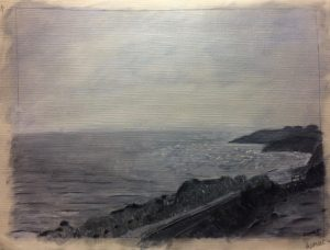 Sumeet V.'s water-soluble oil seascape tone study