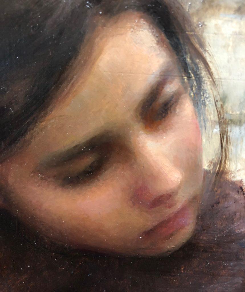 Uncertain, Oil on Panel by Alex J. Venezia