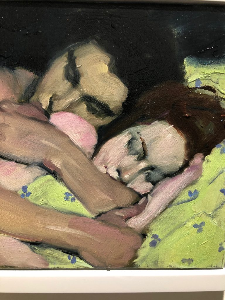 "Malcolm T. Liepke - ""Embrace"" - Oil on Canvas - 8 x 12 inches"