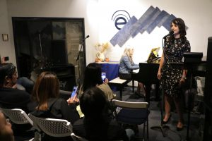 Radina Veliova served as Master of Ceremonies at Pastimes for a LIfetime's 2019 Fall Student Concert