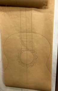 A commissioned guitar drawing by Greg Brandt