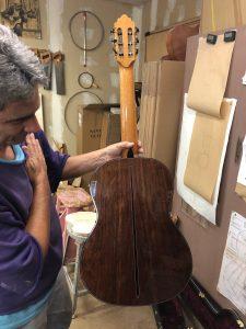 Greg Brandt's Finished Guitar with Ebony Center Decoration
