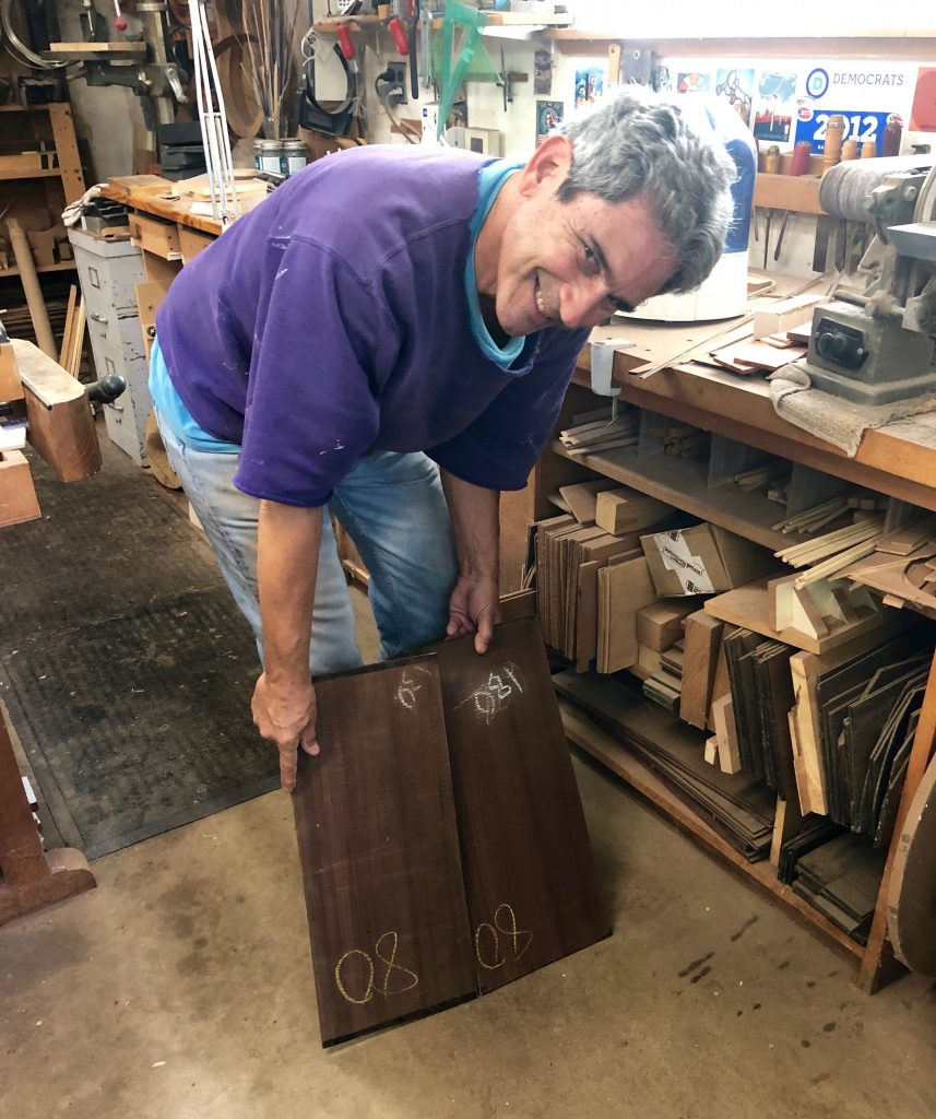 Rosewood used by guitar builder, Greg Brandt