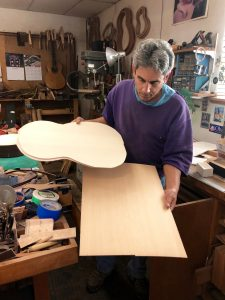 Greg Brandt uses Spruce and Cedar for his guitar tops