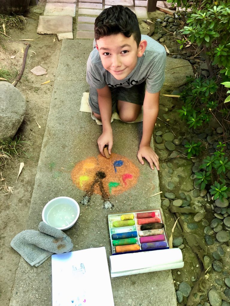 Pastimes for a Lifetime Student Sidewalk Chalk Art Invitational Artist Alexander V.