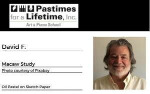David F., student art exhibitor, Pastimes for a Lifetime 2020 Virtual Gallery, M Street Coffee