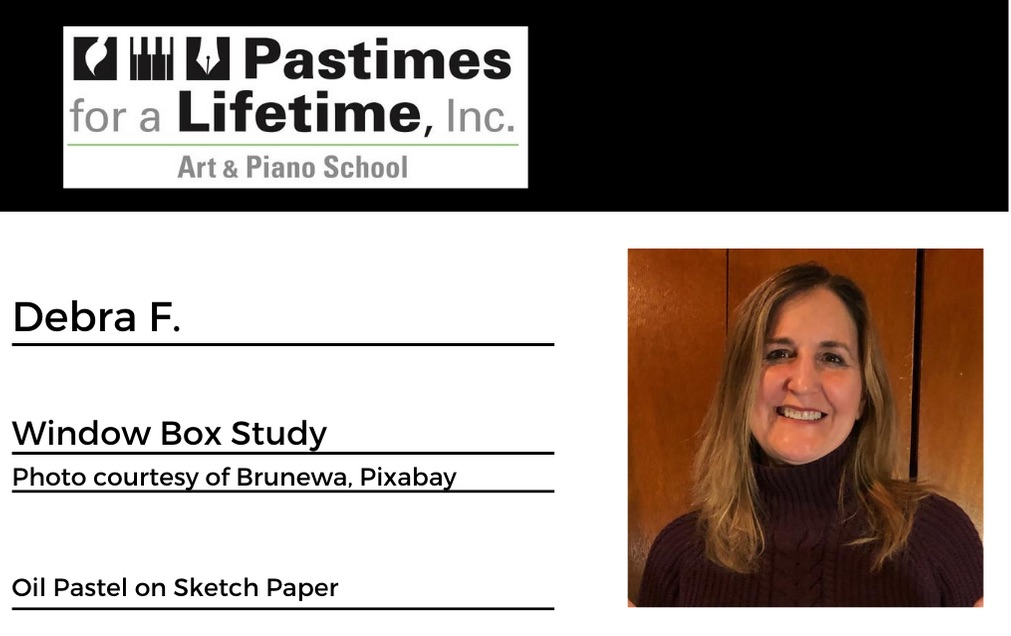 Debra F., student art exhibitor, Pastimes for a Lifetime 2020 Virtual Gallery, M Street Coffee