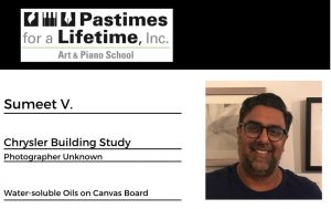 Sumeet V., student art exhibitor, Pastimes for a Lifetime 2020 Virtual Gallery, M Street Coffee