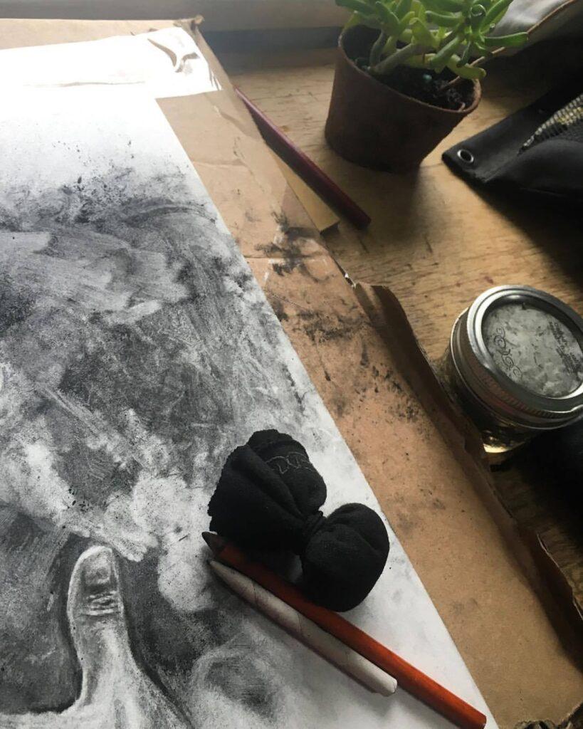 charcoal sachet, jessica lee sanders
