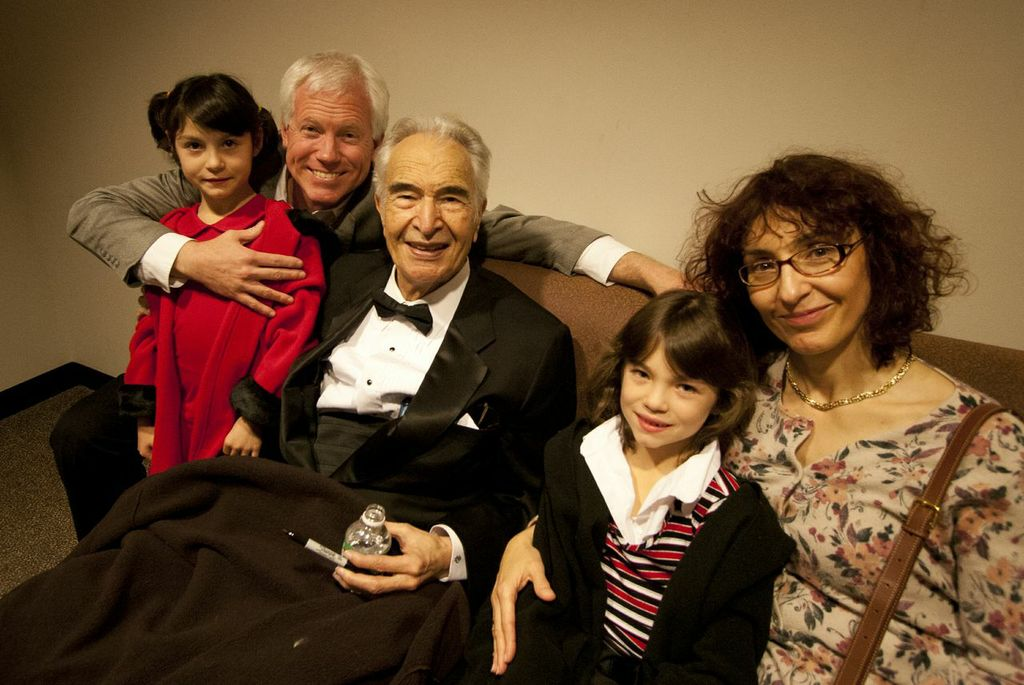 Brubeck with Salmon's family 2005
