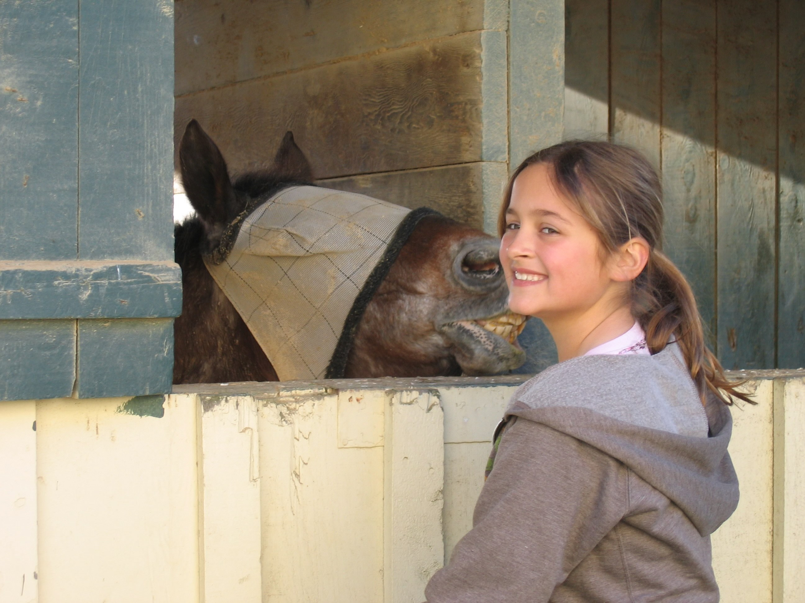 Taylor McLeod when she attended a summer riding camp.
