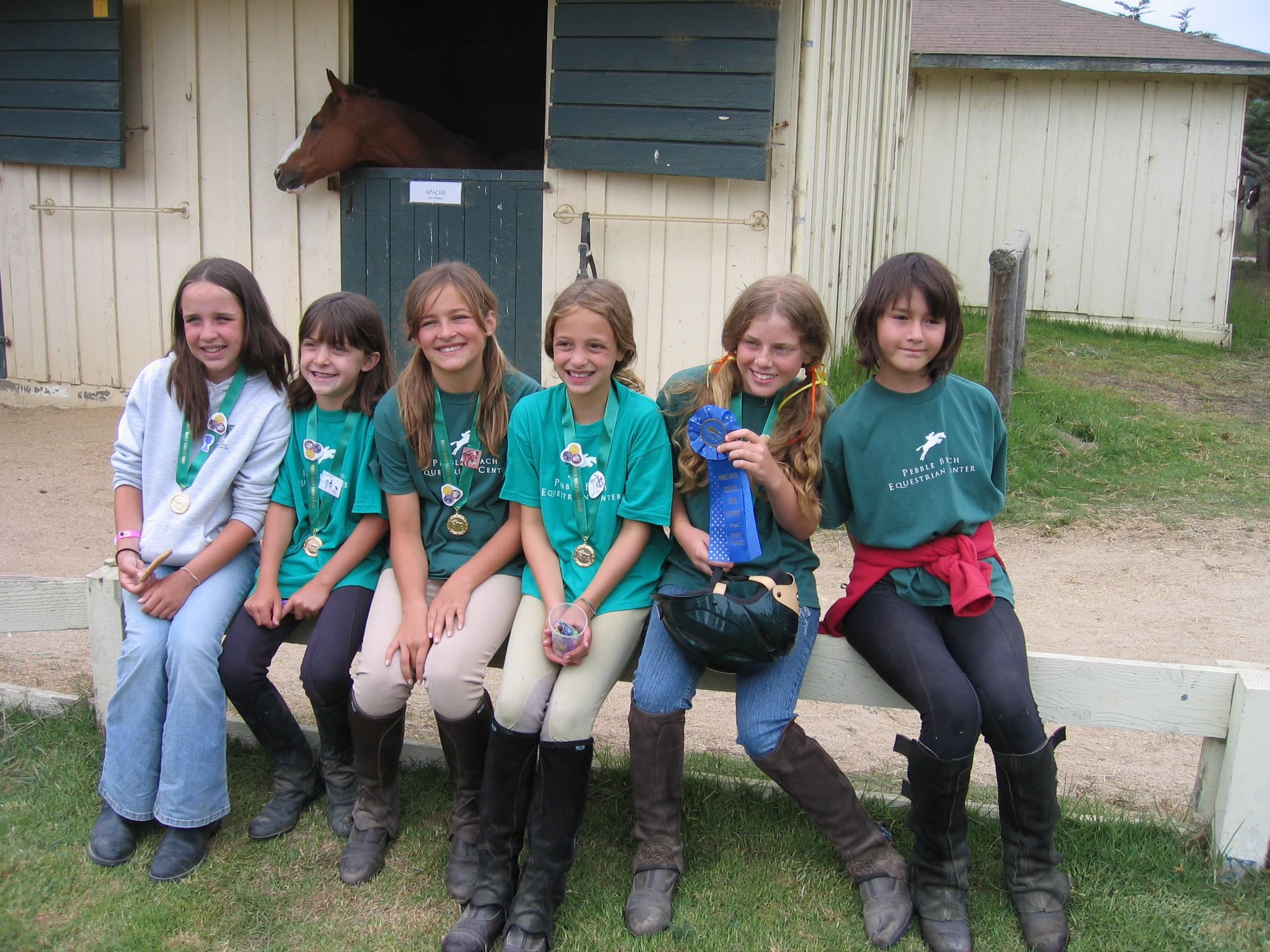 Taylor McLeod at Summer Riding Camp.